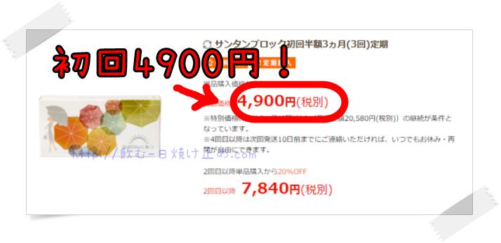 サンタンブロックの値段の画像