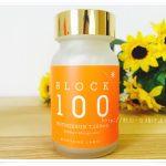 ブロック100の飲む日焼け止めのボトル写真